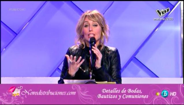 Emma García anunciando nuestros productos