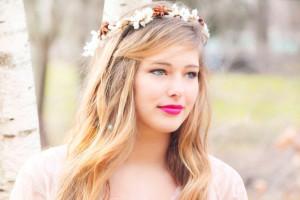 Novia con look primaveral