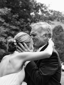 Emoción en la boda