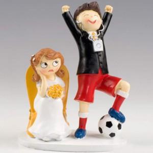 Figuras de tarta fútbol