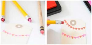 Sello con lápiz