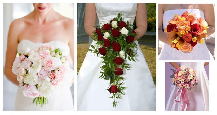 Diferentes tipos de ramos de novia