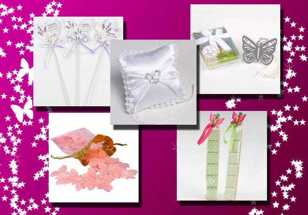 Mariposas para decorar la boda