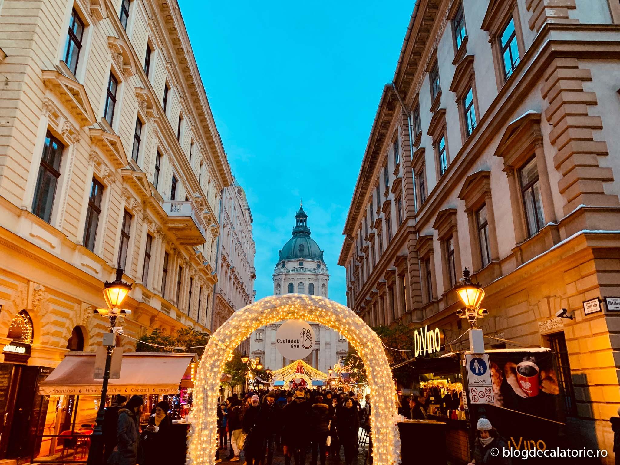 Targul de iarna din Budapesta