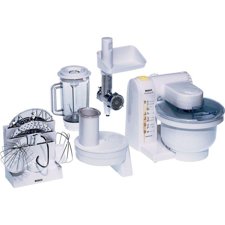 Robot de bucatarie Bosch MUM4655EU, 550 W, 1 l blender, masina de tocat carne, alb