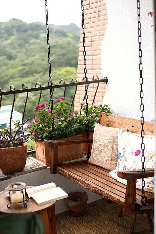 balcon cu leagan