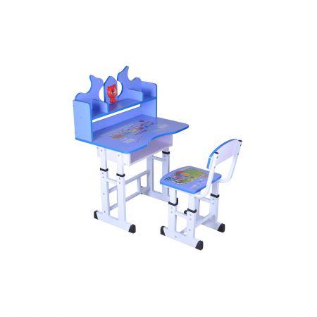 Set birou copii Unic Spot cu scaun, Albastru
