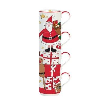 "Set 4 cani 275 ml ""Santa and Friends"" - R2S"