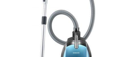 Aspirator fara sac Samsung VC15RHNDCNC, 2 l, Tub telescopic metalic, 1500 W, Filtru HEPA, Albastru