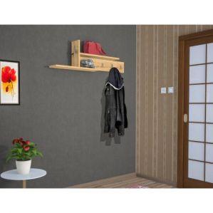 Raft de perete Columba WDD Collection, 14 x 110 x 32 cm, Finisaj Stejar