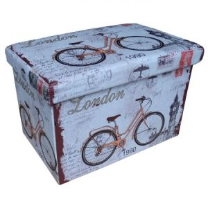 Taburet Unic Spot Design 48X32 cm, cu spatiu depozitare, Bicycle