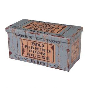 Taburet Unic Spot Design, 76.5x38 cm, cu spatiu depozitare, Old Coffer