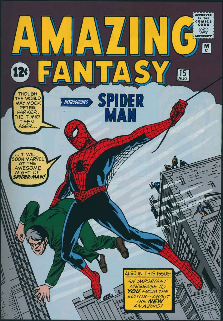 amazing fantasy 15 spiderman
