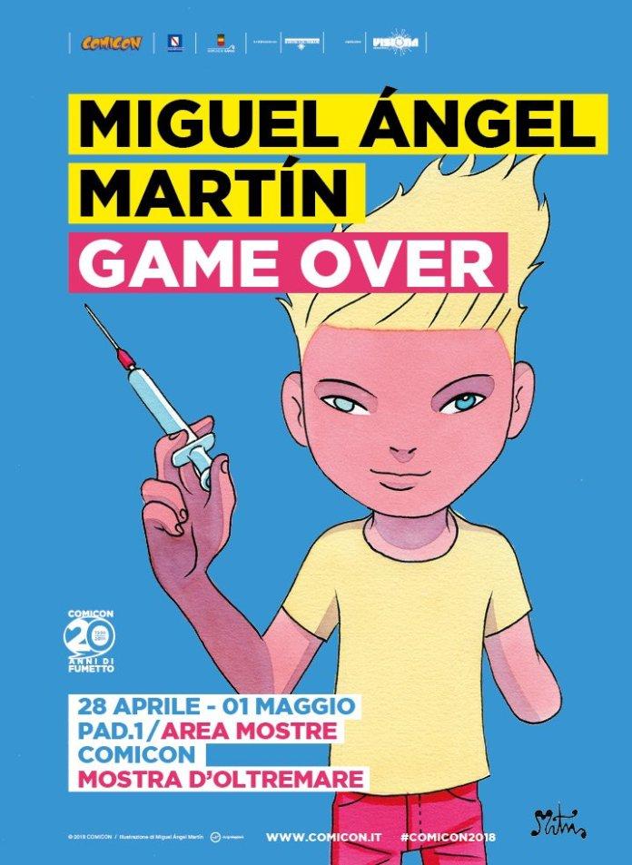 Exposición de Miguel Ángel Martín en la Comicon de Nápoles