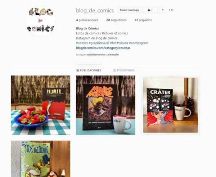 Blog de comics en intagram