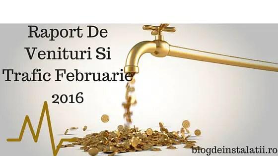 Raport De Venituri Si Trafic Februarie 2016