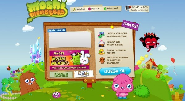 MoshiMonsters, adopta tu mascota virtual