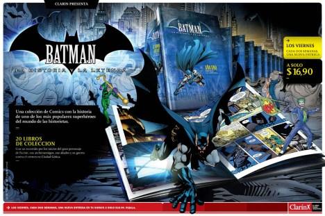 """La serie de Batman, una de las últimas """"compras adicionales"""" lanzadas por Clarin, parte de su estrategia de """"Las 52""""."""