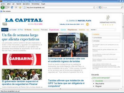 El Diario La Capital modificó su sitio web, pero con complicaciones.