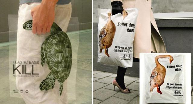 Las bolsas de plástico matan