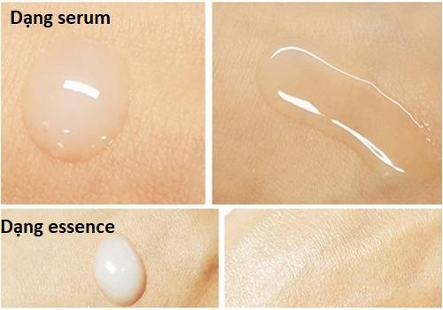 Sự khác nhau giữa dạng essence và serum