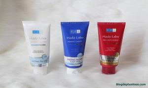 Review sữa rửa mặt hada labo Nhật Bản