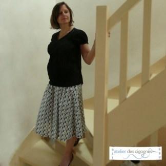 Patron couture grossesse - Jupe de grossesse évasée