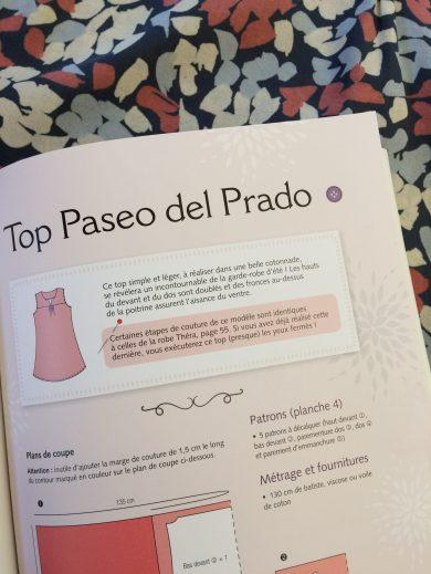 Patron couture Top Paseo del Prado