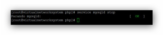 Cambiar password MySQL