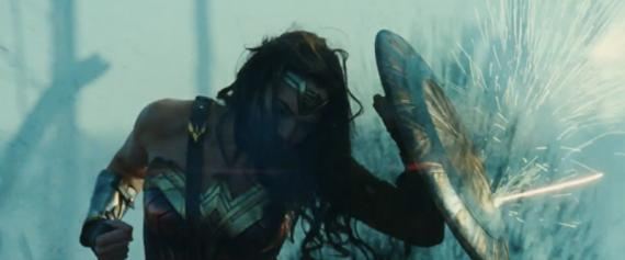 Captura del primer trailer de Wonder Woman (2017)