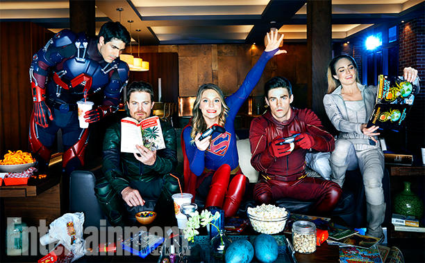 Imagen del crossover Invasion!, con Arrow, The Flash, Supergirl y DC's Legends of Tomorrow