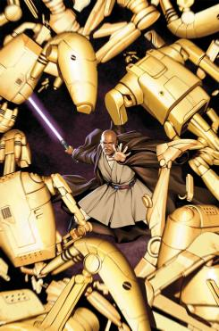 Imagen portada de los cómics Star Wars: Jedi of the Republic - Mace Windu, obra de Jesus Siaz