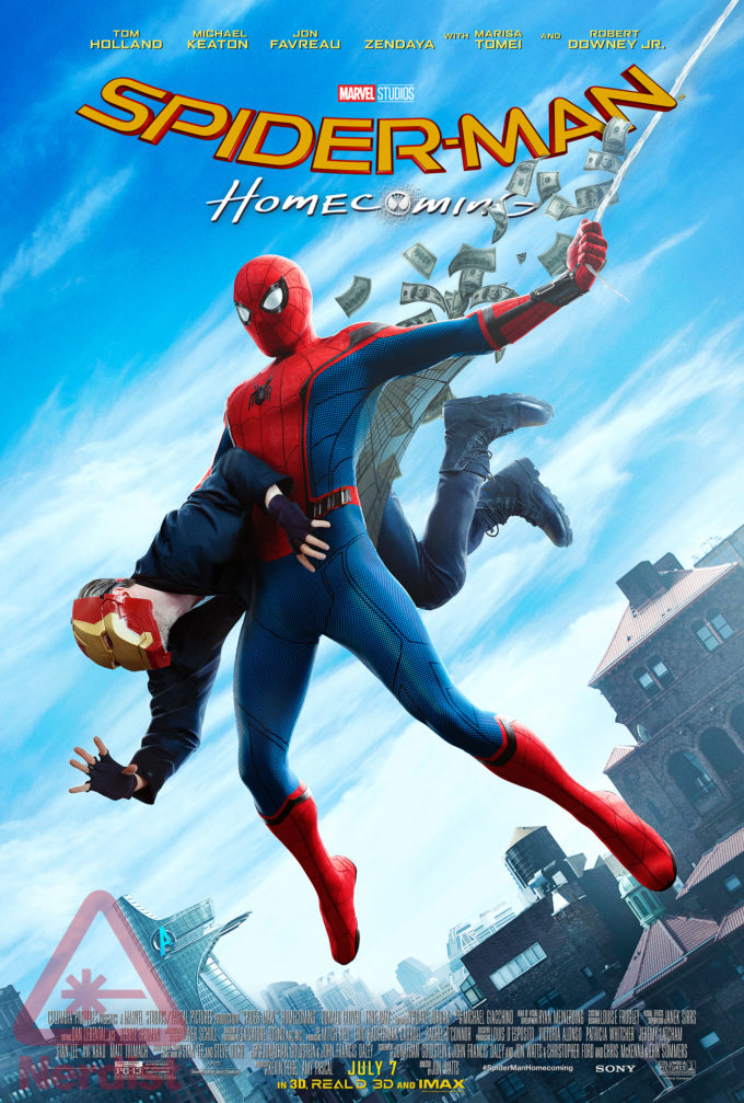 Póster de Spider-Man: Homecoming (2017) homenaje a Amazing Fantasy #15