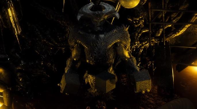 Imagen de escena eliminada de Batman V Superman (2016), villano Steppenwolf y las Mother Box