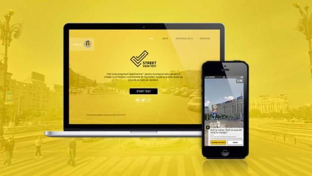 Streetviewtest.ro pe telefon, tableta, desktop