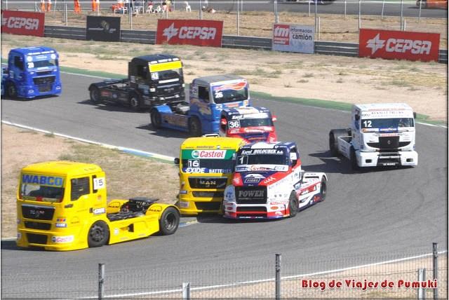 Las primeras curvas de carrera del GP camiones son las mas emocionantes