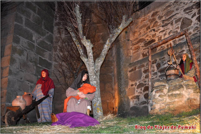 Mujeres en Belén Viviente de Buitrago de Lozoya
