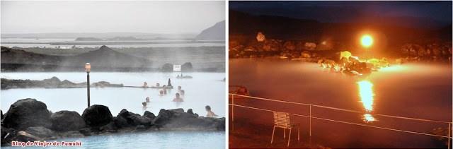 Los baños naturales o Mývatn Nature Baths son aguas termales naturales en Islandia similares a las de la Laguna Azul.