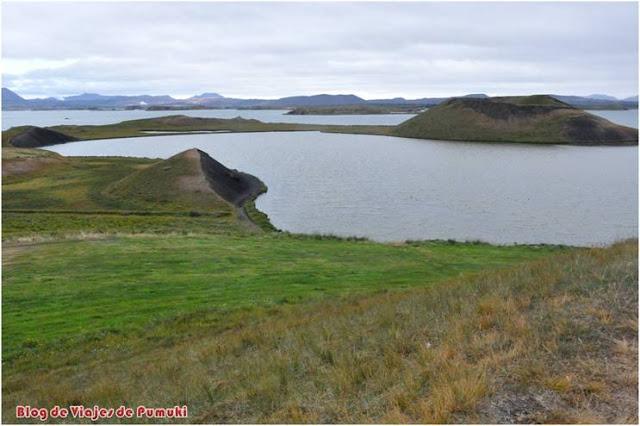 Lago Mývatn en Islandia