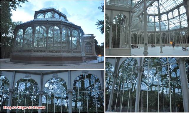 La estructura de Cristal y Metaal del Palacio de Cristal del Parque del Retiro de Madrid parece sorprendéntemente ligera.