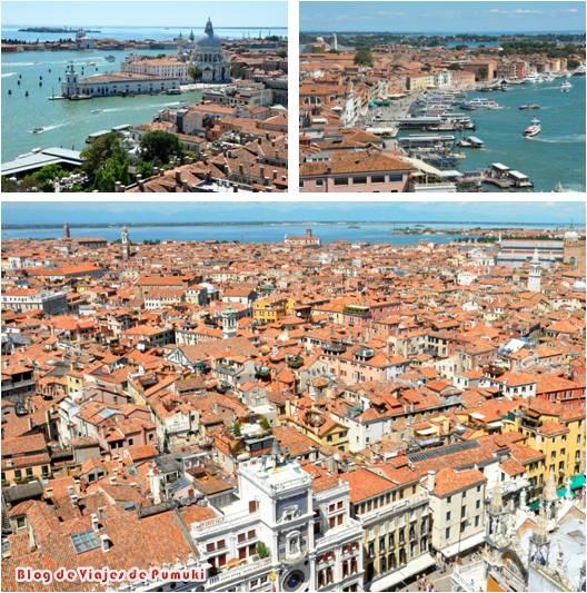 Desde el Campanile se puede tener una inigualable vista aérea de Venecia