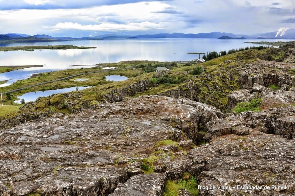 Þingvallavatn en el Parque Nacional de Thingvellir, Lago mas grande de Islandia