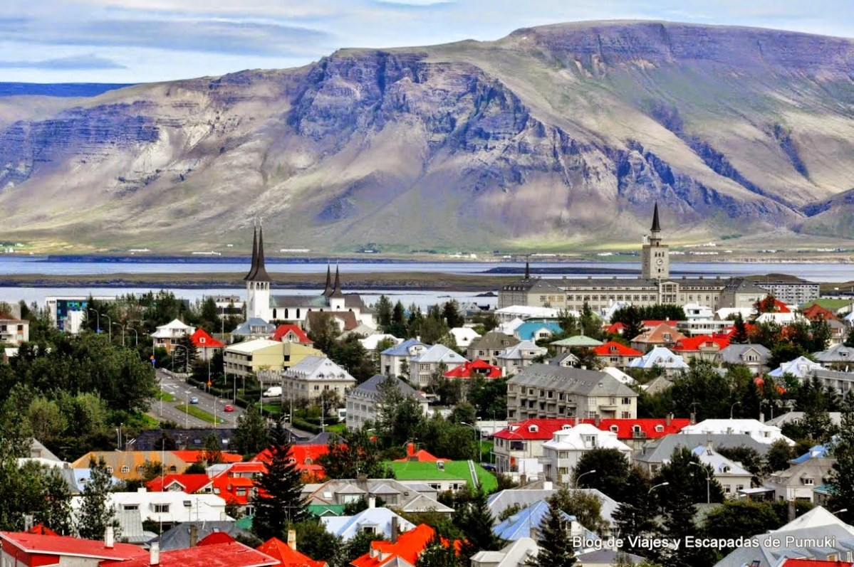 Vista Panorámica de Reikiavik desde el Perlan