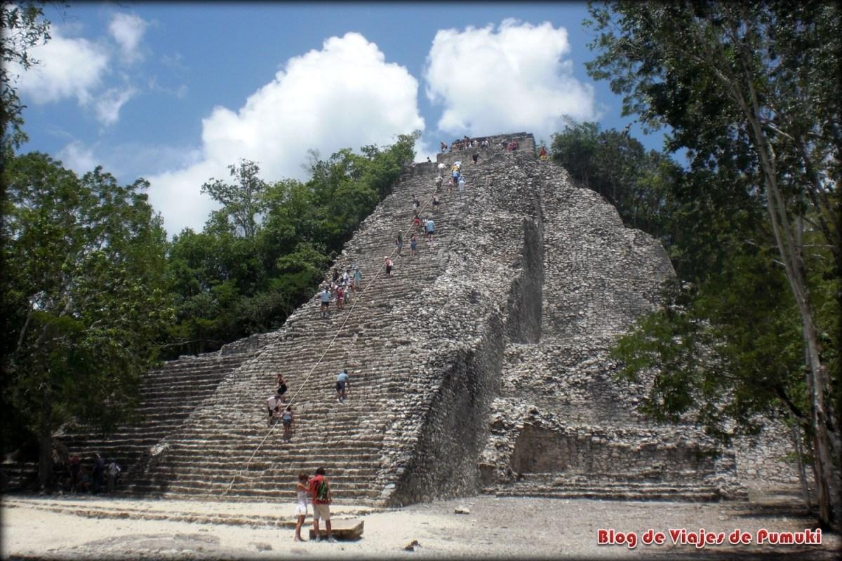 Piramide de Cobá,. Que ver en excursión desde Riviera Maya, México