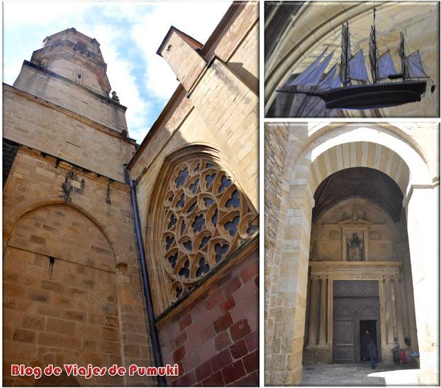 La Iglesia de San Salvador tiene el suelo inclinado y de roca original.
