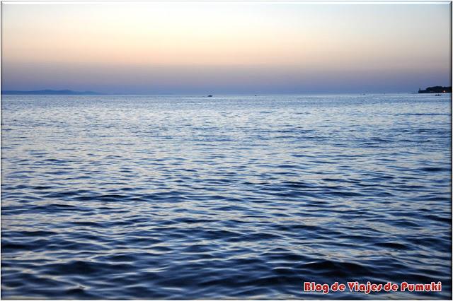 Puesta de Sol en Zadar, junto al Saludo al Sol y el Órgano de Mar