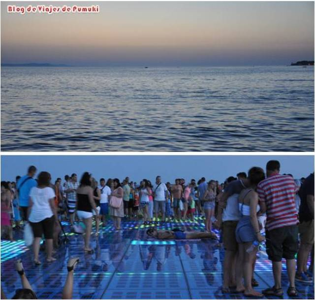 Atardecer en Zadar con Saludo al Sol y el sonido del Organo de Mar en un viaje en familia a Croacia