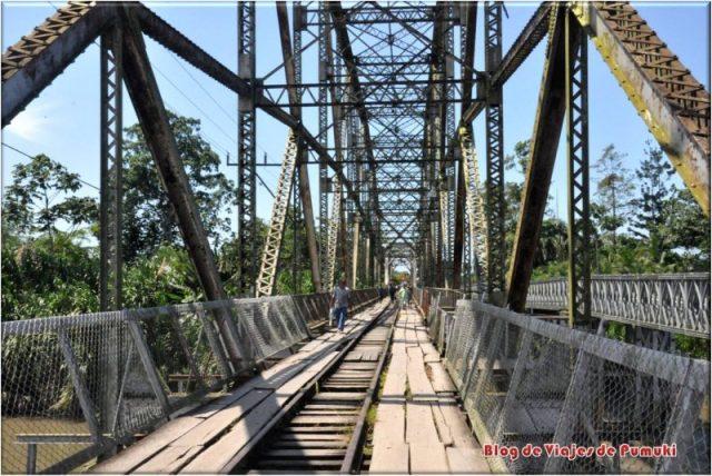 El puente de Sixaola en la frontra entre Costa Rica de Panamá.