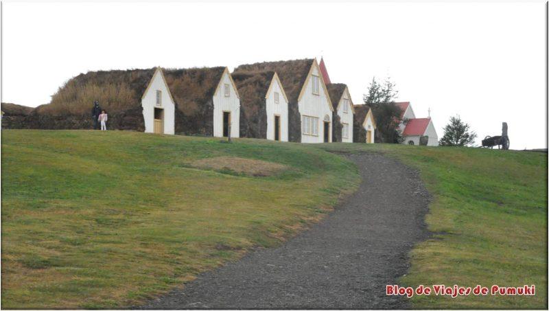 Casas turf. Casa tradicional de Islandia