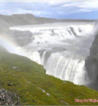 Arcoiris en la Cascada Gullfoss, islandia